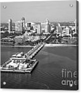 St Petersburg Skyline And Pier Acrylic Print