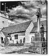 St Sannans Church Bedwellty 2 Mono Acrylic Print