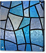 Stained Glass Background With Ice Flowers Acrylic Print by Kiril Stanchev