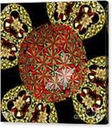 Stained Glass Kaleidoscope Under Glass Acrylic Print