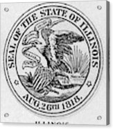 State Seal Illinois Acrylic Print