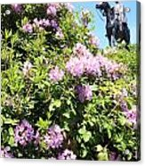 Statue Of 1st Duke Of Wellington At Round Hill Aldershot Acrylic Print