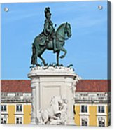 Statue Of King Jose I In Lisbon Acrylic Print