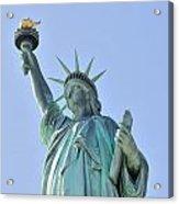 Statue Of Liberty Closeup  In New York City Manhattan Acrylic Print by Songquan Deng