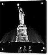 Statue Of Liberty On V-e Day Acrylic Print