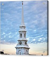Steeple And Rooftops Acrylic Print