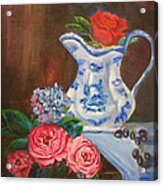 Rose And Pitcher Jenny Lee Discount Acrylic Print