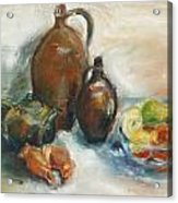 Still Life With Earthen Jugs Acrylic Print