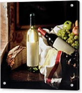 Still Life With Two Wine Bottles Acrylic Print