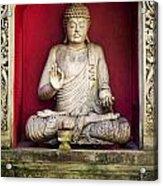 Stone Statue Of Buddha In Bali Indonesia Acrylic Print