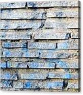 Stone Wall Texture Acrylic Print