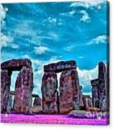 Stonehenge In The English County Of Wiltshire Acrylic Print