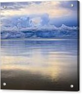 Storm Clouds And Lake Winnipeg At Acrylic Print
