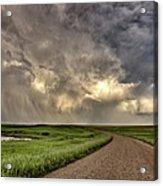 Storm Clouds Prairie Sky Saskatchewan Acrylic Print