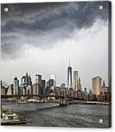 Storm Over Manhattan Downtown Acrylic Print