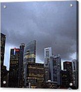 Stormy Singapore Acrylic Print