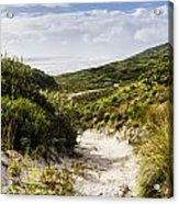 Strahan Coast Landscape Winding To The Ocean Acrylic Print