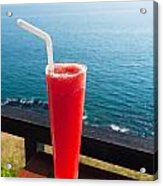 Strawberry Smoothie Soda Acrylic Print