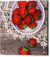 Strawberry Vintage Acrylic Print by Jane Rix