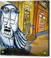 Street Art Valparaiso Acrylic Print by Tyler Lucas