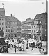 Street Market Coburg Germany 1903 Vintage Photograph Acrylic Print