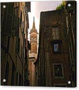 Street Of Rome Acrylic Print