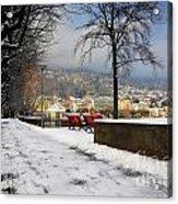 Street With Snow Acrylic Print