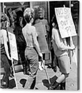 Strippers On Strike Acrylic Print
