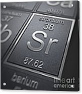 Strontium Chemical Element Acrylic Print
