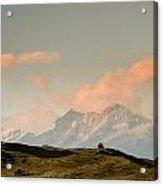 Stupas And The Himalayas Acrylic Print
