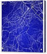Stuttgart Street Map - Stuttgart Germany Road Map Art On Colored Acrylic Print