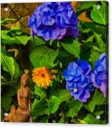 Summer Flower Garden Acrylic Print