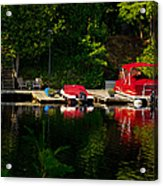 Summer Morning On Muskoka River Acrylic Print