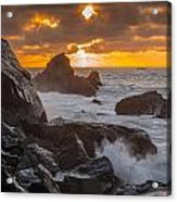 Sun Sets On Patrick's Point Acrylic Print