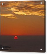 Sun Sinking Acrylic Print