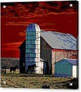 Sundown On The Farm Acrylic Print