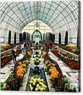 Sunken Garden Como Conservatory Acrylic Print