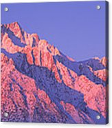 Sunrise At 14,494 Feet, Mount Whitney Acrylic Print