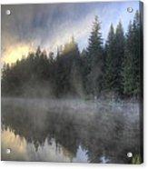 Sunrise At Trillium Lake Acrylic Print