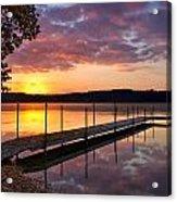 Sunrise On Keoka Lake Acrylic Print