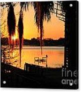 Sunrise On Lake Weir - 4 Acrylic Print