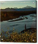 Sunrise On Mnt Denali, Trapper Creek Acrylic Print