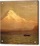 Sunrise On Mount Tacoma Acrylic Print
