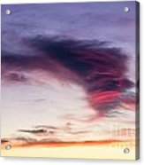 Sunset And Clouds Red Sensations. Acrylic Print by Stefano Piccini