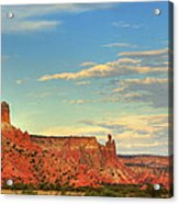 Sunset At Ghost Ranch Acrylic Print