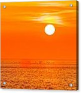 Sunset At Sea With Multiple Color Prizm Acrylic Print