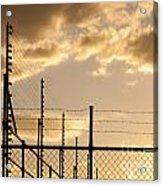 Sunset Fence Acrylic Print