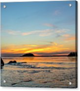 Sunset From North Beach With Deception Acrylic Print