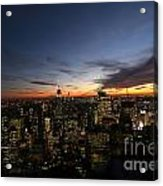 Sunset From Top Of The Rock Acrylic Print