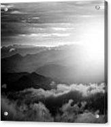 Sunset Himalayas Mountain Nepal Silhouette Acrylic Print
